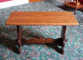 Small solid oak coffee table