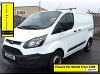 Ford Transit Custom NEW 2.2 ECOnetic 270, 55K Miles, One Owner From New , Service History , 1YR MOT