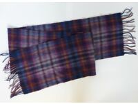 Lambswool Scarf 100% - purple tartan by House of Scotland