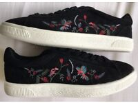 Black Embroidered Womens Trainers - Brand New From New Look