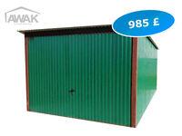 NEW Garage Metal Shed - 9.84ft (300cm) x 16,4ft (500cm) - Green