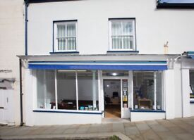 Spacious Retail Shop / Offices to let, Haverfordwest Town Centre with free street parking available