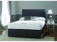 SINGLE/DOUBLE DIVAN BED BASE INCLUDING MEMORY FOAM MATTRESS (Headboard Optional)