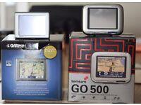 2 sat navs both with their original boxes a tomtom from the 90's and a Garmin Nuvi 300 both working