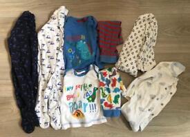 Baby boys pj/sleepsuit bundle 3-6 months