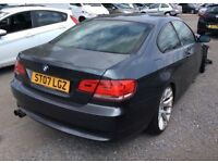 2007 bmw 320i coupe 2.0 fire damaged , hpi clear ,spare part or good repair project