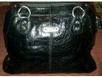 Black Real Italian Leather Handbag/Tote bag