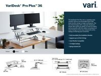 "VariDesk® Pro PlusTM 36"" Adjustable Standing Desk - White RRP £365"