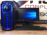 New Fast Gaming Pc Six '6' Core Computer 8GB Ram 128GB SSD 2GB Graphics Card Free Delivery Minecraft