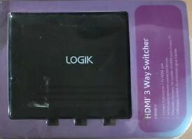 LOGIK HMDI 3 way switcher