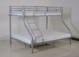 Brand New Bunk Bed!!Top Single And Bottom Double Bed- Very Strong Quality Bunk Bed