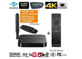 MINIX NEO X8-H + Android 4K Box Kodi Fully Loaded tv/movies