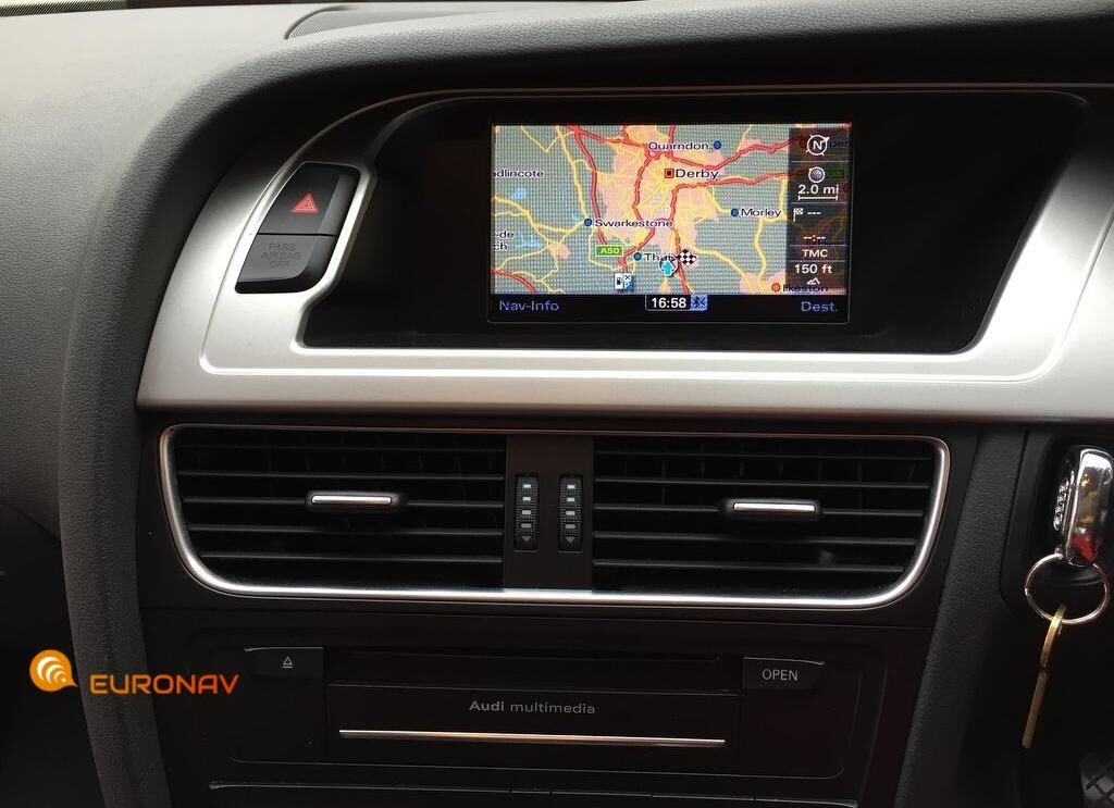 Audi 2016 MMI 3G Basic Sat Nav Maps UK Europe DVD Disc SD ...