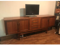 Mid Century Timber Veneer Credenza For Sale