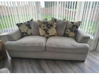 Sofa set 3,2,1 plus rug and curtains