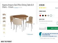 Table and chairs Offers welcome