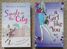 2 paperback books, chicklit set in London, Michele Gorman, Gemma Burgess, good condition!