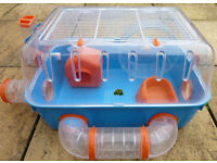 Hamster Cage Suitable For Dwarf Hamsters - Includes Tubes & External Wheel - Good Condition