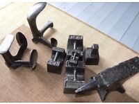 Vintage Cast Iron Avery Weights Shoe Lasts and Anvil