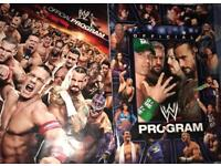 2 EXTREMELY RARE OFFICIAL WWE PROGRAMS