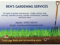 Gardener Available - Kent & Sussex ....
