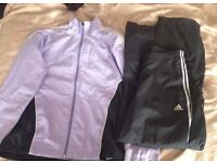 Ladies ADIDAS tracksuit size 10 top 12 bottom. Get ready for the January resolutions!