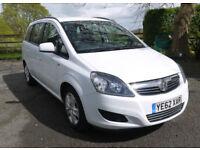 Vauxhall Zafira 1.6i Exclusiv 2012-62. Petrol. 1 owner from new 36k FSH