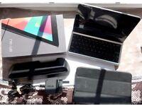 Nexus 7 Tablet/BT Keyboard/Docking Station/Case Bundle
