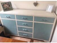 Solid Heavy duty wood storage cabinet draws