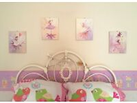 Set of 4 delightful Fairy canvas pictures.