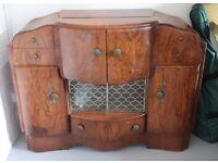 Antique Vintage Cocktail Cabinet Art Deco