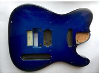 Electric Guitar Body Fender Tele Telecaster TL - Mahogany 41MM Thick 25.5 Scale - FLOYD ROSE BRIDGE