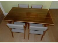 "Morris of Glasgow ""Cumbrae Furniture"" Dining Table and four Chairs"