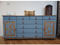 Large Refurbished Country Sideboard with Drawers