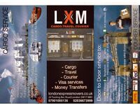 LONDON EXPRESS MOVERS PROVIDING WORLDWIDE CARGO - COURIER -TRAVEL SERVICE