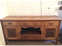 Solid Oak Antique Sideboard (Relisted)