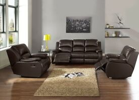 CASH ON DELIVERY-BRAND NEW CLASSIC BOSTED RECLINER CORNER SOFA AND 3+2 SEATER SOFA-FAST DELIVERY