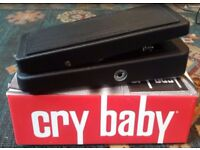 Jim Dunlop Cry Baby Wah Pedal for Electric Guitar - Used but Excellent Condition, comes with box