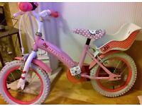 "Hello Kitty 14"" Kids' Bike with Stabilisers"