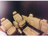 VW Golf MK4 Heated Cream Leather Seats Volkswagen