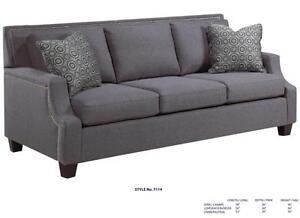 SOFAS MADE IN CANADA FROM $799 CHOOSE YOUR FABRIC STYLE OR LEATHER MAKE LOVE SEAT OR CHAIR