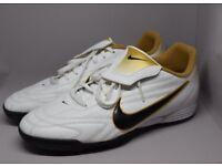 Original Nike Premier II Football Boots UK 9 WHITE/BLACK-METALLIC GOLD (RARE)