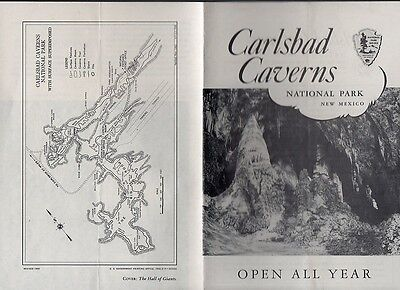 Vintage 1955 New Mexico Travel Brochure - Carlsbad Caverns National Monument