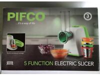 Pifco Electric Food Slicer 5 Function Green/White