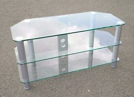 Glass Tv table / Tv stand (105cm long)/ can deliver