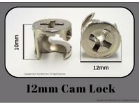 12mm Cam Lock Fitting for Flat Pack Furniture (EM1202) Pack of 10