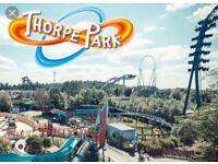Thorpe park ticket 25 August 2 available £15 each
