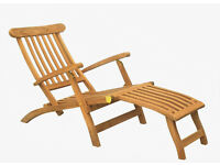 Solid Teak Steamer (with cushion) - Exlusive Clearance Offer