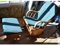 Glider Nursing Chair & Stool in Good Condition