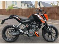 KTM DUKE 125cc Motorbike ABS Model - Amazing Condition